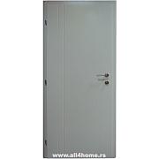 Sobna vrata <br>bela, 2 prave linije