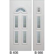 PVC ulazna vrata<br> paneli B406 i B986