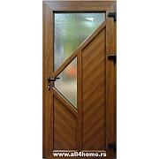 PVC ulazna vrata<br> zlatni hrast