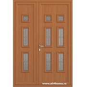 ALU vrata <br> S22 Keln (X3 zlatni hrast)