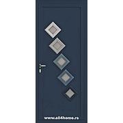 ALU vrata <br> S43 Belvil (RAL 9005)