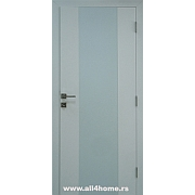 Sobna vrata  Quadro<br> bela sa belim staklom