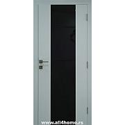 Sobna vrata  Quadro<br> bela sa crnim staklom