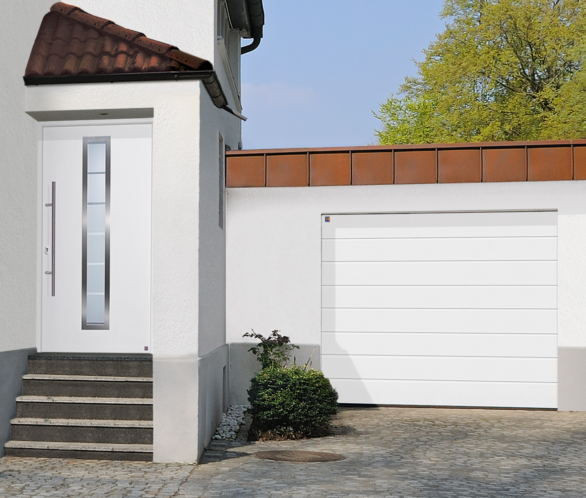 Segmentna garažna vrata<br>bela